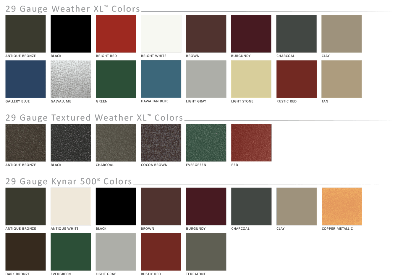 Metal Siding Colors : Premier rib metal roofing and siding metals in ohio